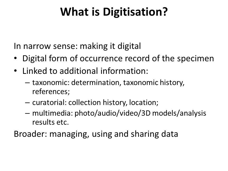 What is Digitisation.