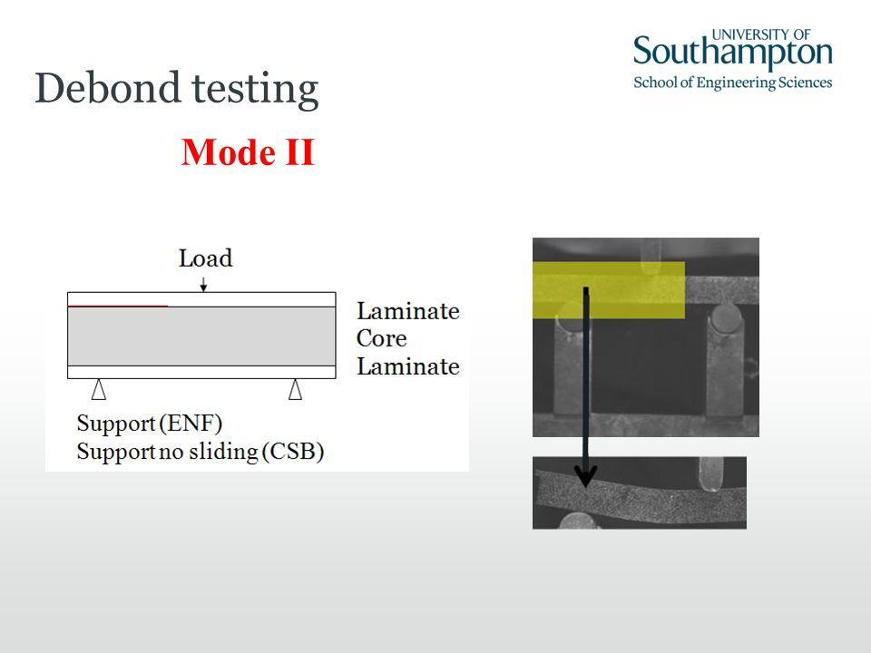 Mode II Debond testing