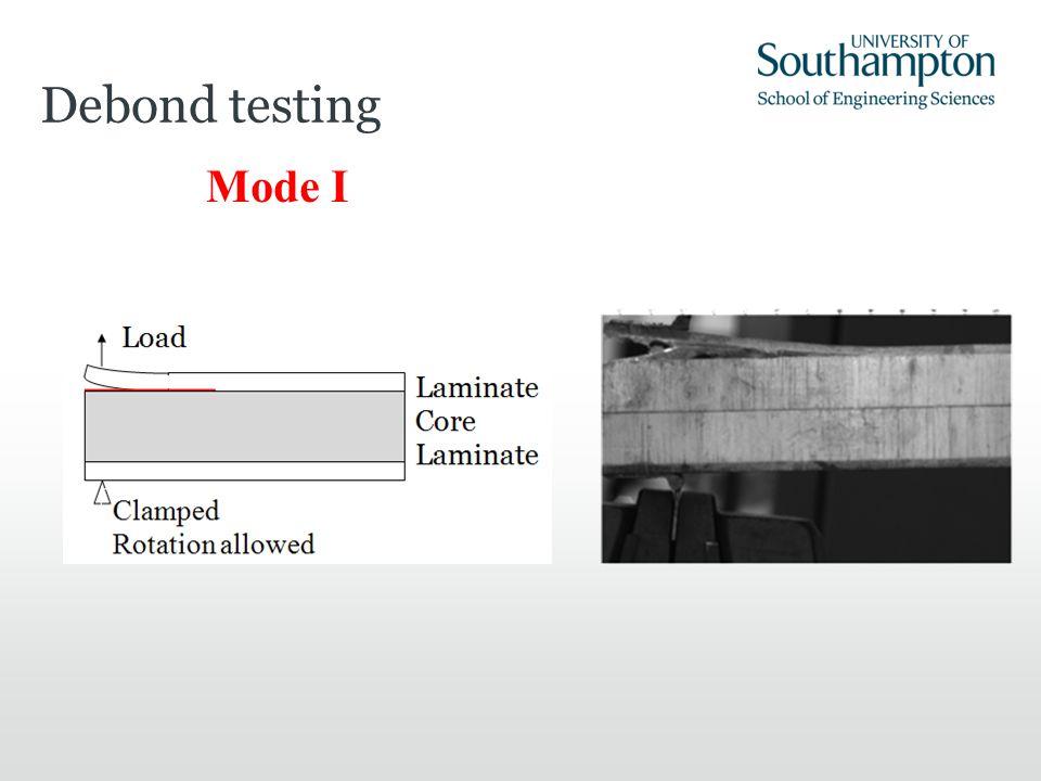 Debond testing Mode I