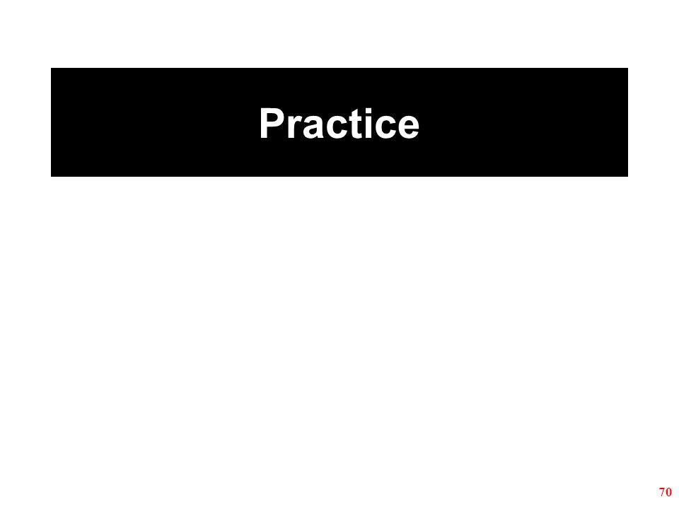 Practice 70