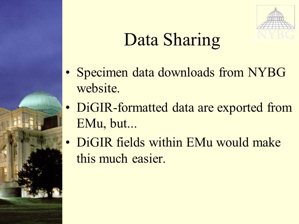 Data Sharing Specimen data downloads from NYBG website.