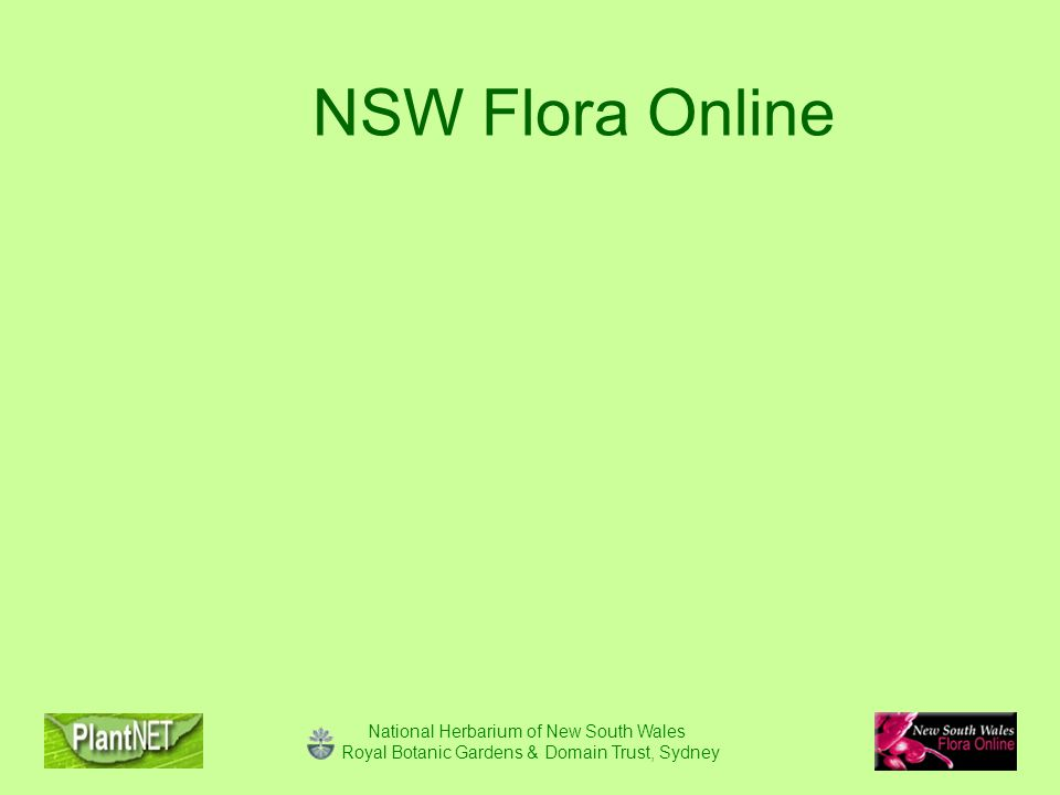 National Herbarium of New South Wales Royal Botanic Gardens & Domain Trust, Sydney NSW Flora Online