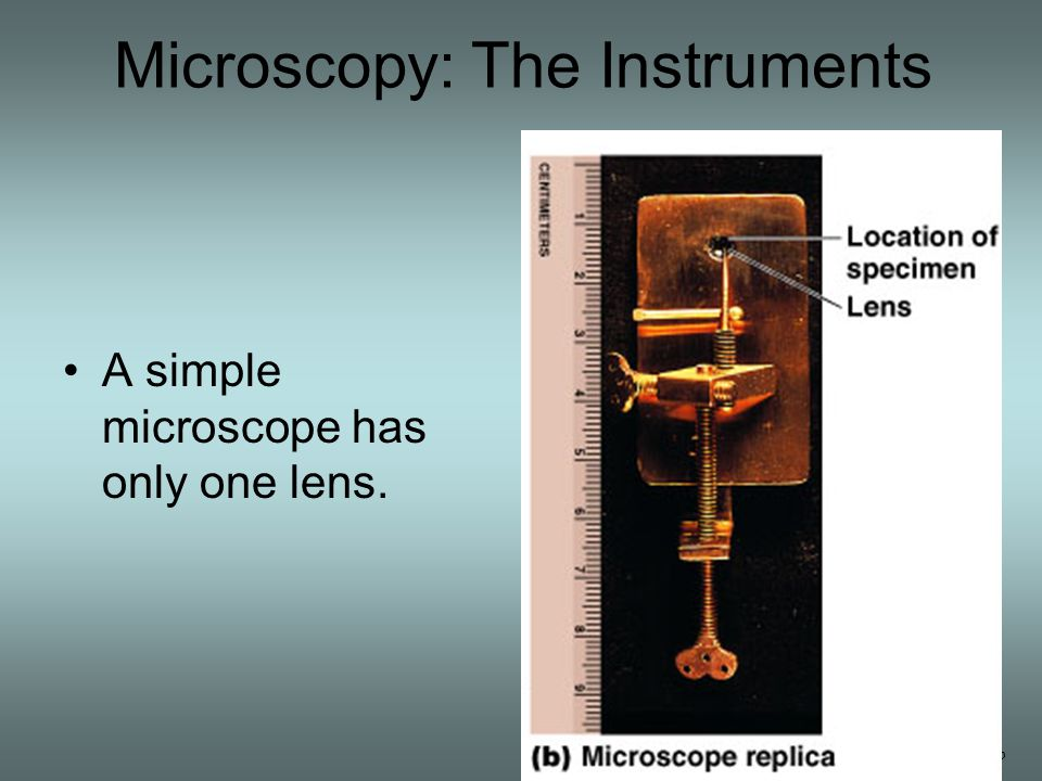 Microscope Resolution ability of a lens to separate or distinguish small objects that are close together wavelength of light used is major factor in resolution shorter wavelength  greater resolution