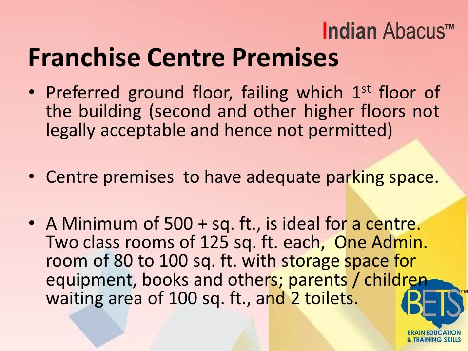 Marketing and Promotions Launch of Centre Business :- Size of the name board should be at least 6'feet by 4'feet, if not more.