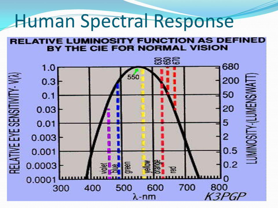 Human Spectral Response