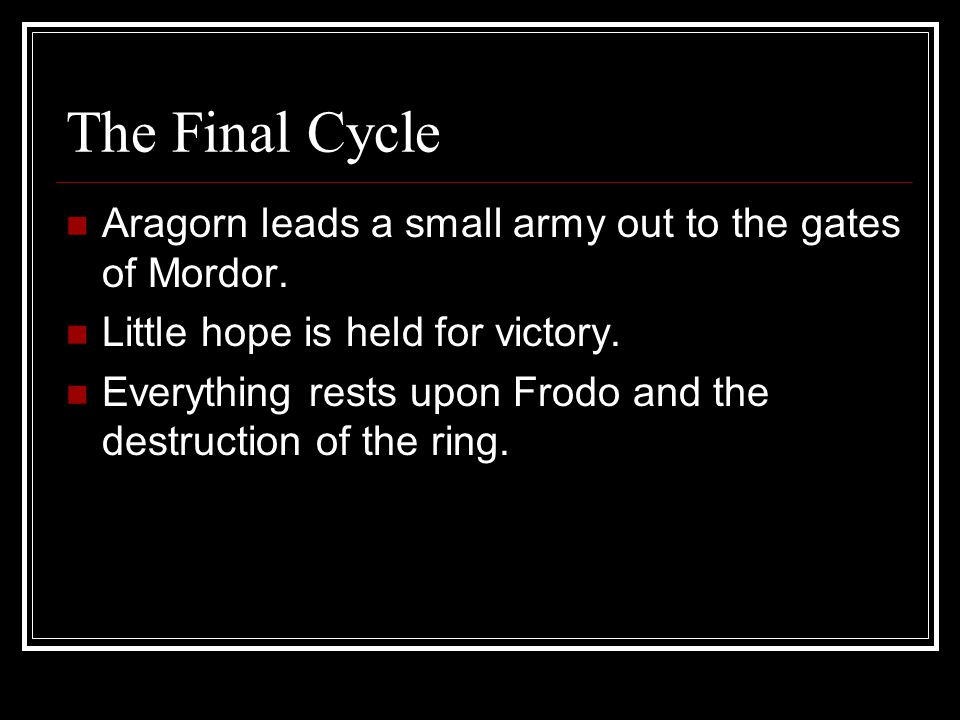 The Sixth Cycle Gondor is attacked by Sauron's troops.