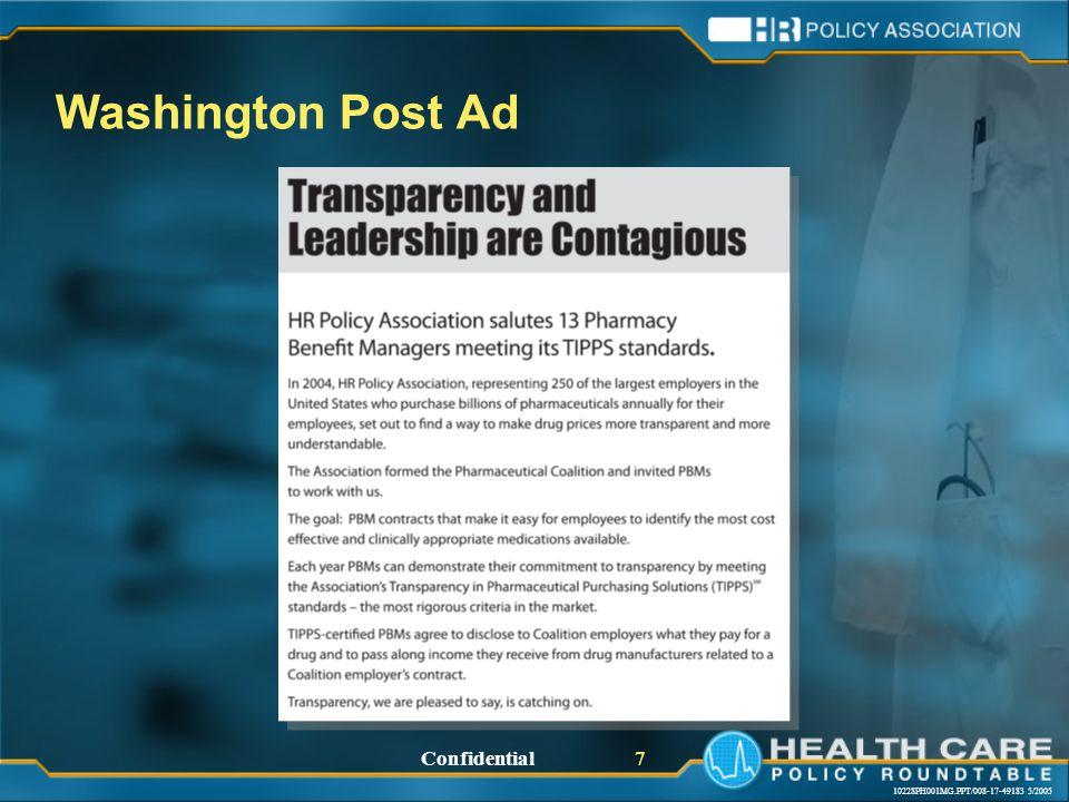 10228PH001MG.PPT/008-17-49183 5/2005 Confidential 7 Washington Post Ad