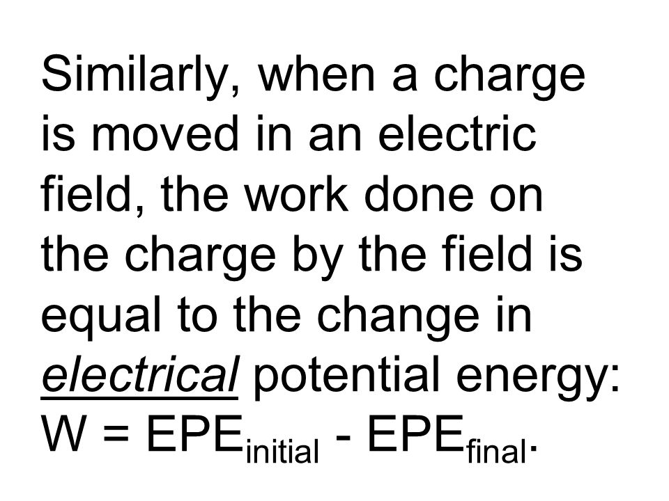 This requires work to be done to the charge by the battery; this energy comes from the battery's reserve of chemical energy.