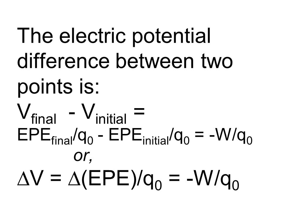 We only measure the differences of electrical potential V and electrical potential energy EPE, not their absolute amount.