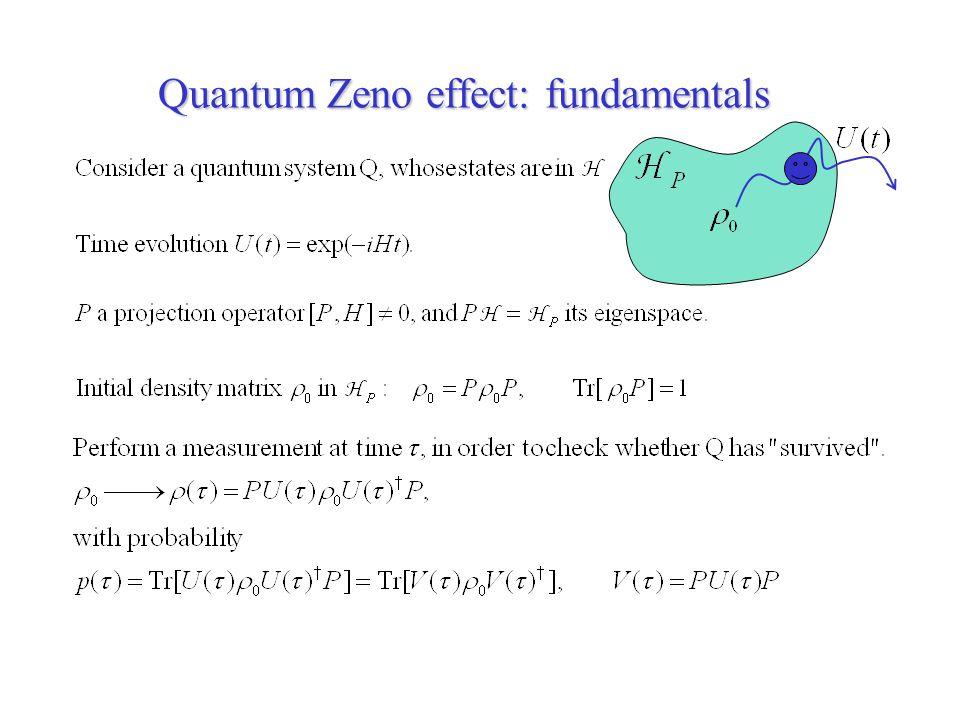Quantum Zeno effect: fundamentals