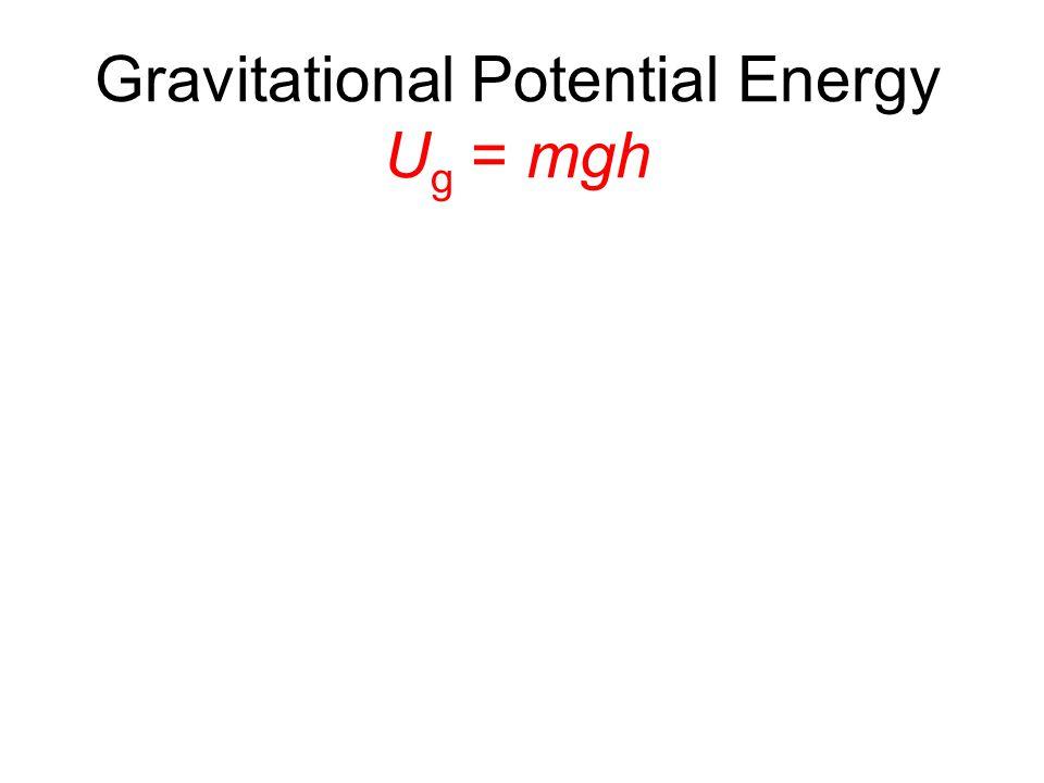 Gravitational Potential Energy U g = mgh
