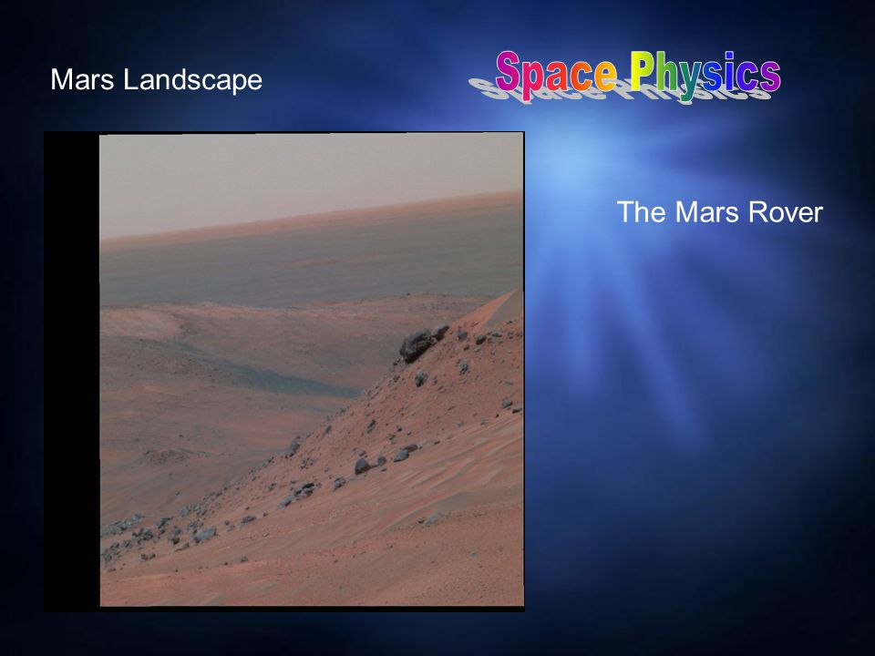Mars Landscape The Mars Rover