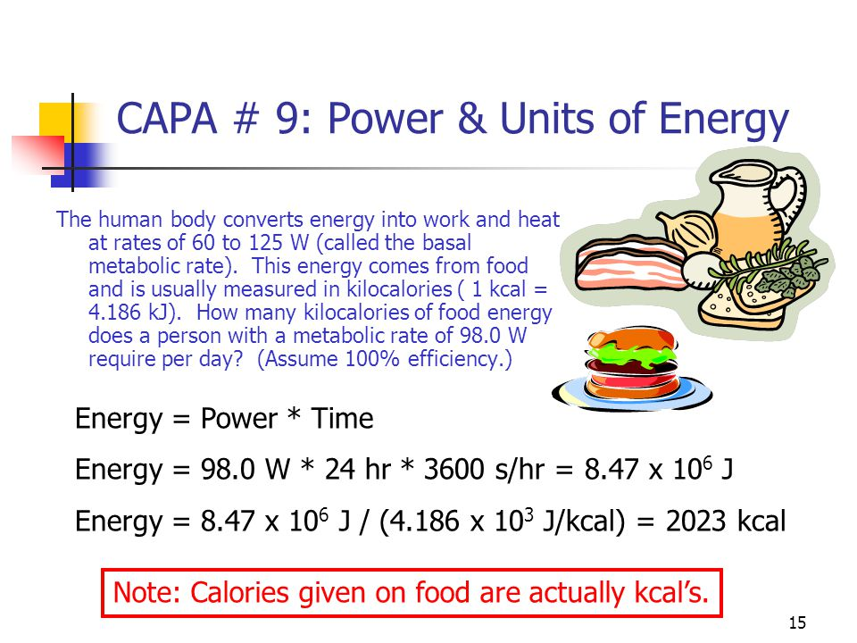 14 Power Power = Work/Time P =  W/  t = F*  X/  t = F * V Units are J/s or Watts (W)