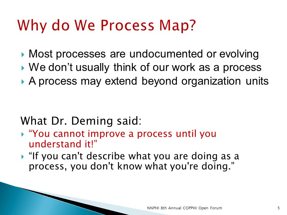  Most processes are undocumented or evolving  We don't usually think of our work as a process  A process may extend beyond organization units What