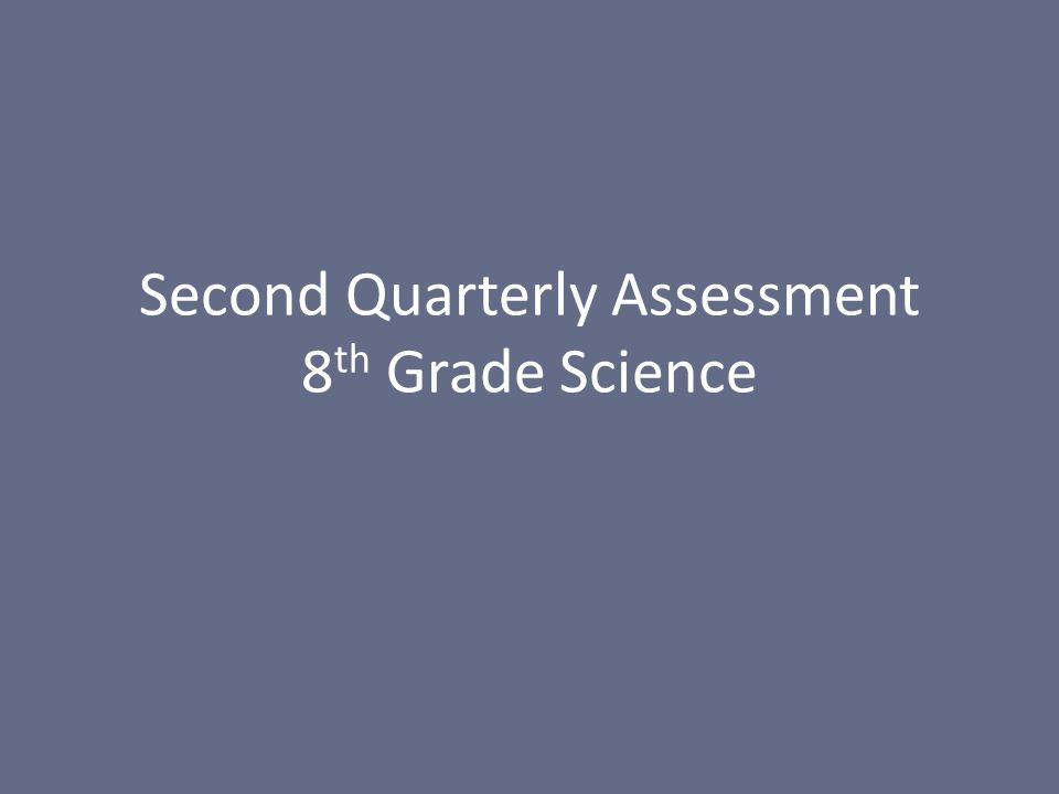 Second Quarterly Assessment 8 th Grade Science
