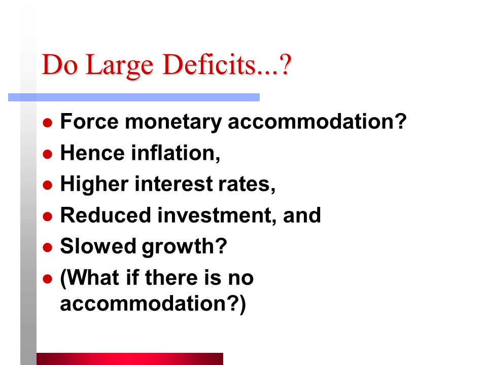 Do Large Deficits....Force monetary accommodation.