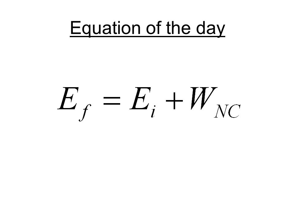 Equation of the day