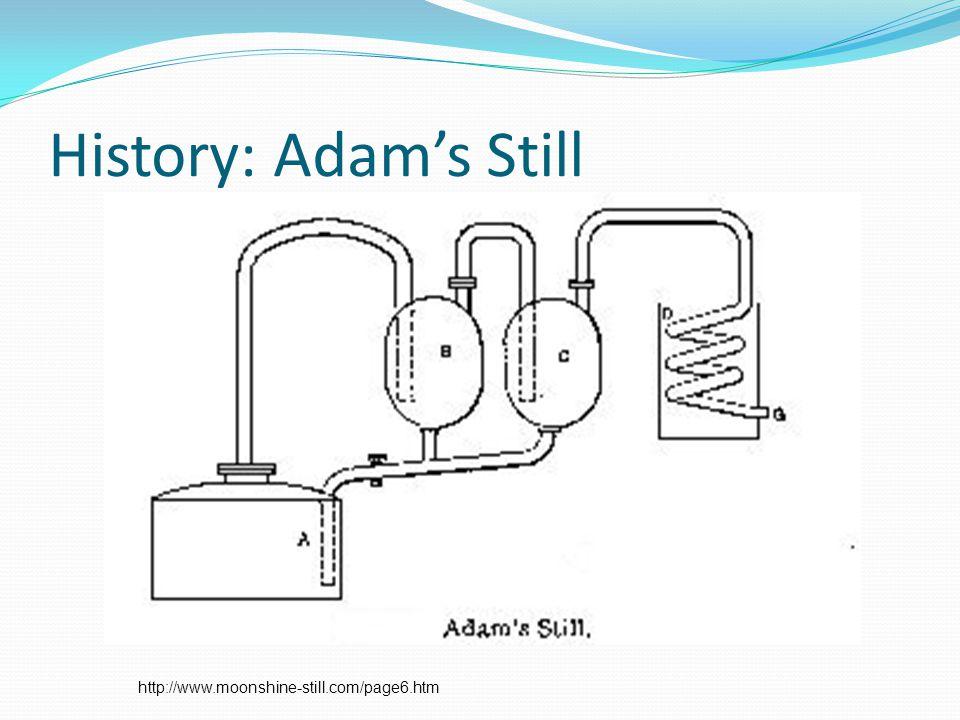 History: Adam's Still http://www.moonshine-still.com/page6.htm