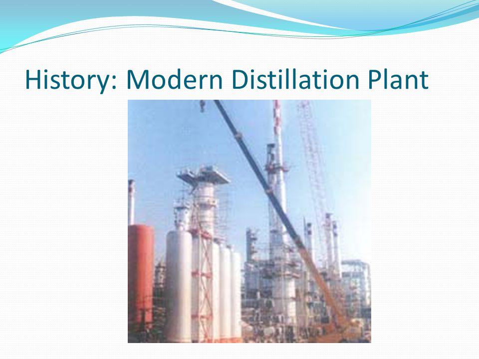 History: Modern Distillation Plant