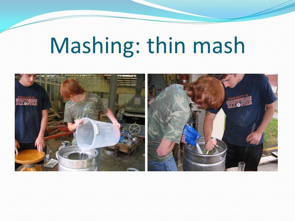 Mashing: thin mash