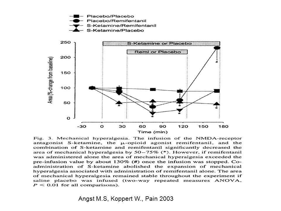 Angst M.S, Koppert W., Pain 2003