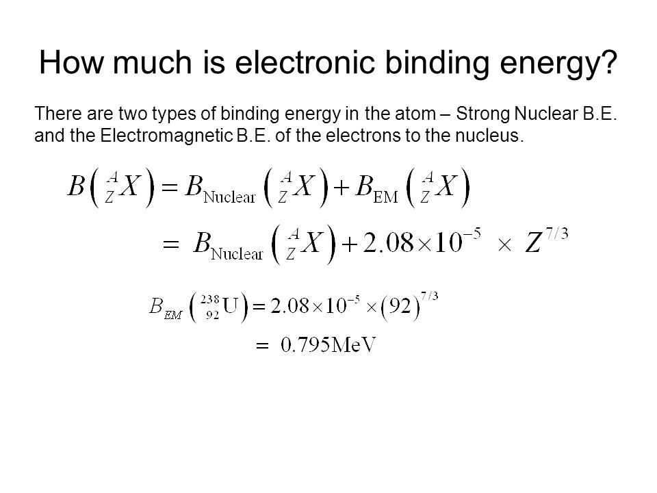 How much is electronic binding energy.