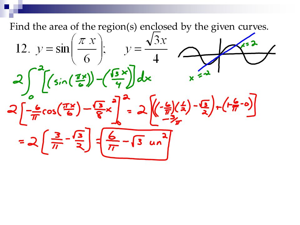 Find the area of the region(s) enclosed by the given curves.