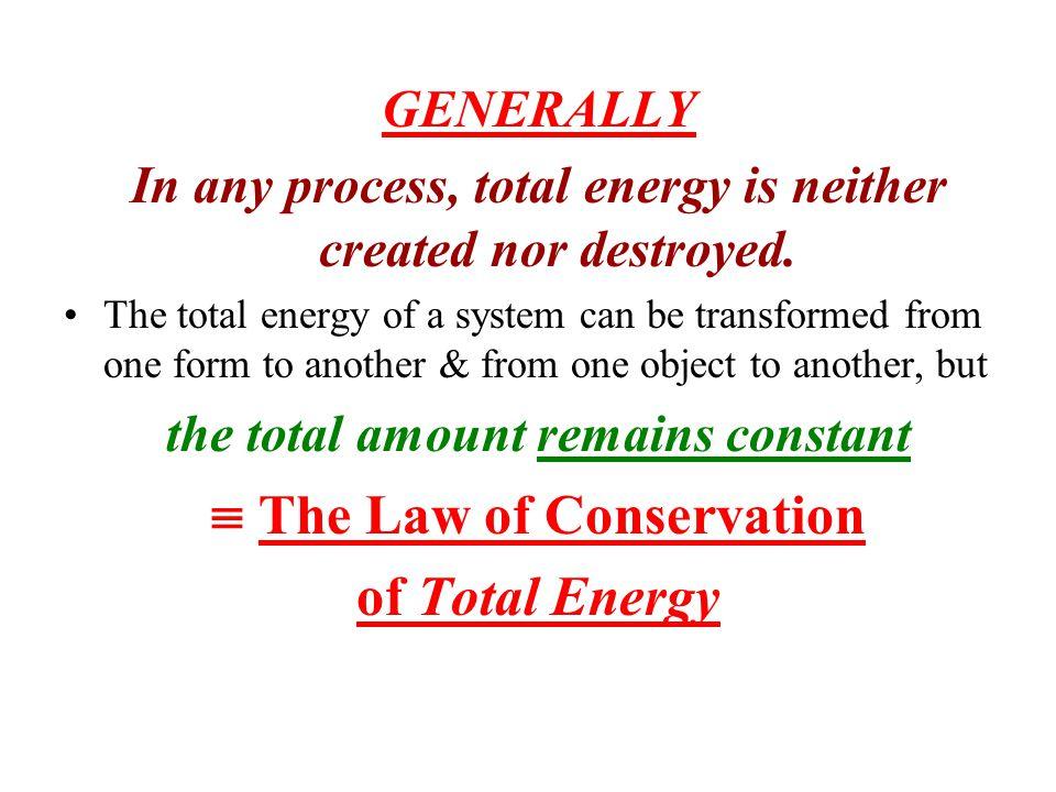 Conservation of Mechanical Energy   K +  U = 0 or E = K + U = Constant For gravitational U: U grav = mgy E = K 1 + U 1 = K 2 + U 2  (½)m(v 1 ) 2 + mgy 1 = (½)m(v 2 ) 2 + mgy 2 y 1 = Initial height, v 1 = Initial velocity y 2 = Final height, v 2 = Final velocity