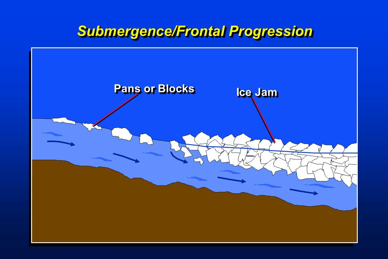 Pans or Blocks Ice Jam Submergence/Frontal Progression