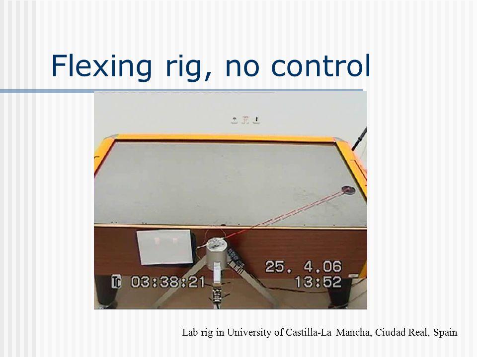 Flexing rig, no control Lab rig in University of Castilla-La Mancha, Ciudad Real, Spain