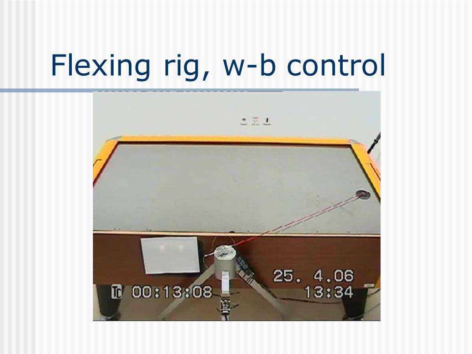 Flexing rig, w-b control