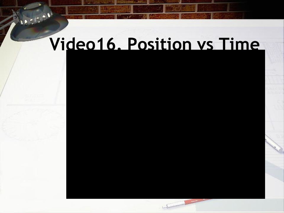 Video16. Position vs Time