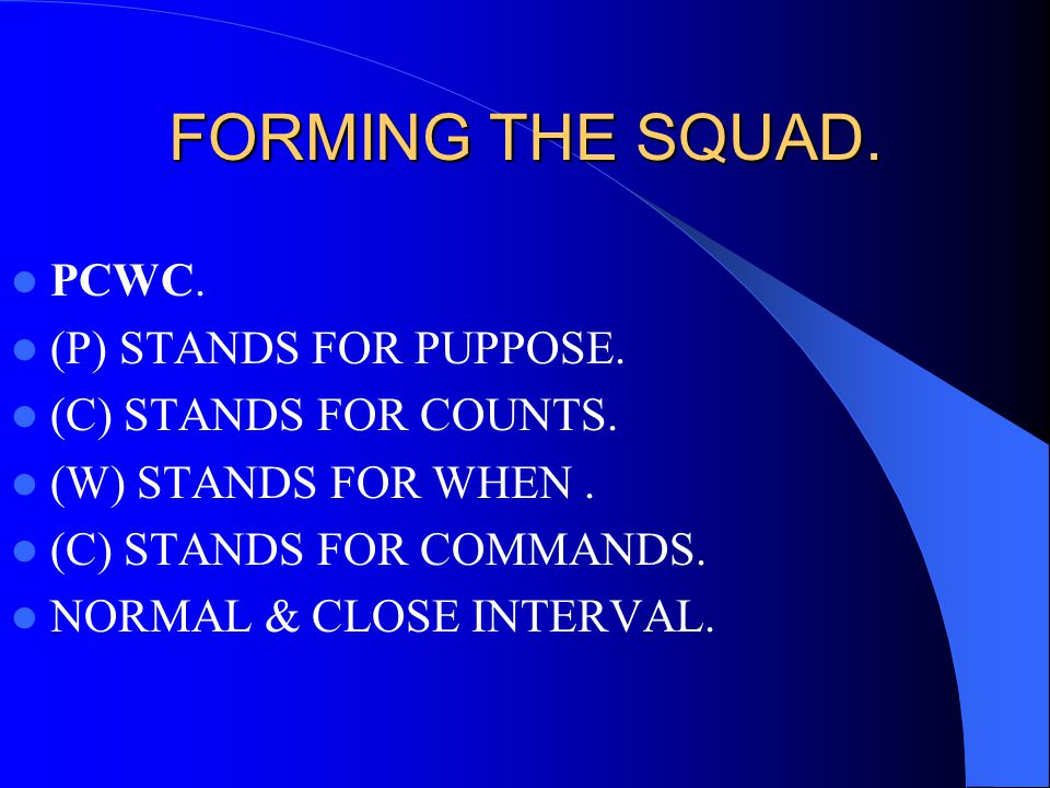 COMMANDS TO SUORDINATE LEADERS.