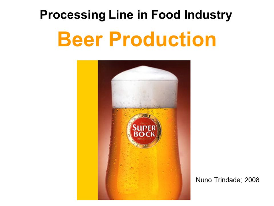 Beer Production Processing Line in Food Industry Nuno Trindade; 2008