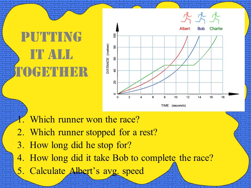 Pg 10 Graph E matches: #7:accelerating Graph F matches: #8:slowing down Graph G matches: #6:constant speed Graph H matches: #5: car is stopped