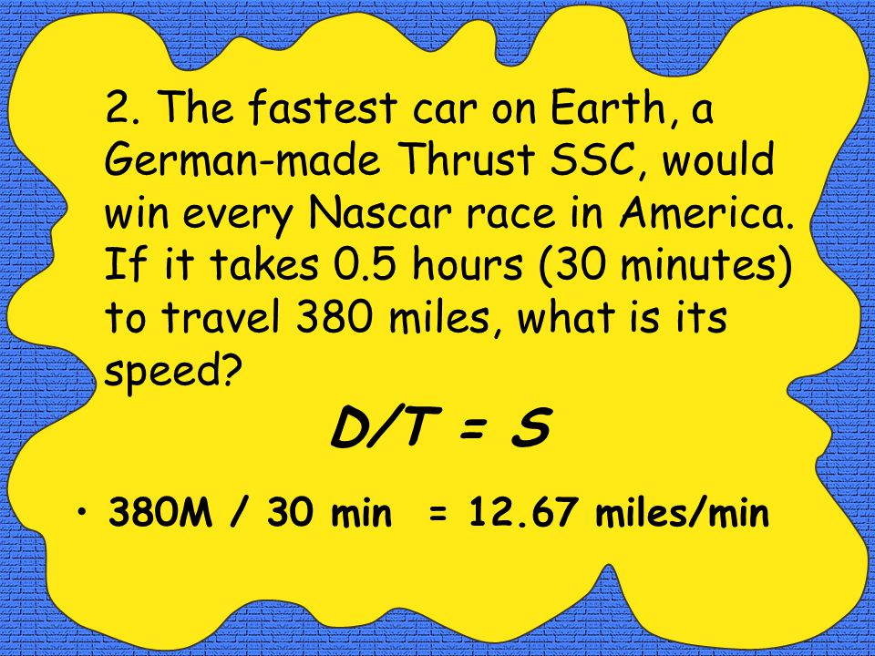 1.Nascar driver, Jeff Gordon, has a car that is one of the fastest on the circuit.