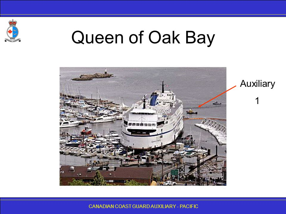 CANADIAN COAST GUARD AUXILIARY - PACIFIC Queen of Oak Bay Auxiliary 1