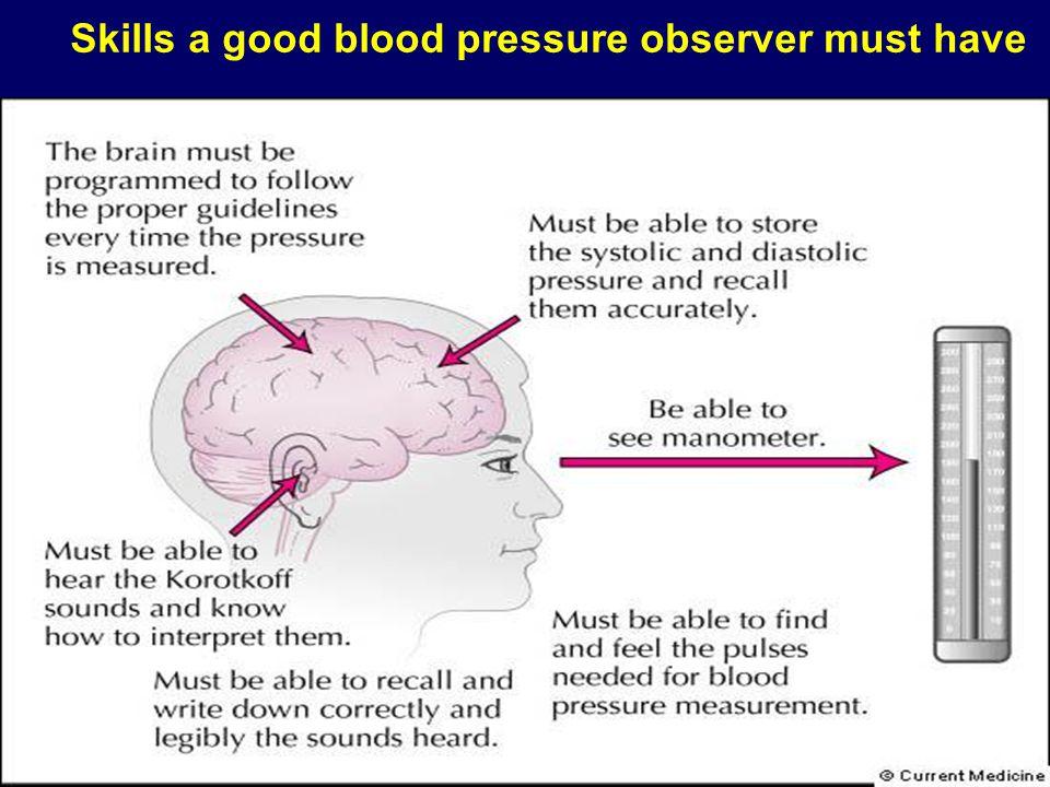 Skills a good blood pressure observer must have