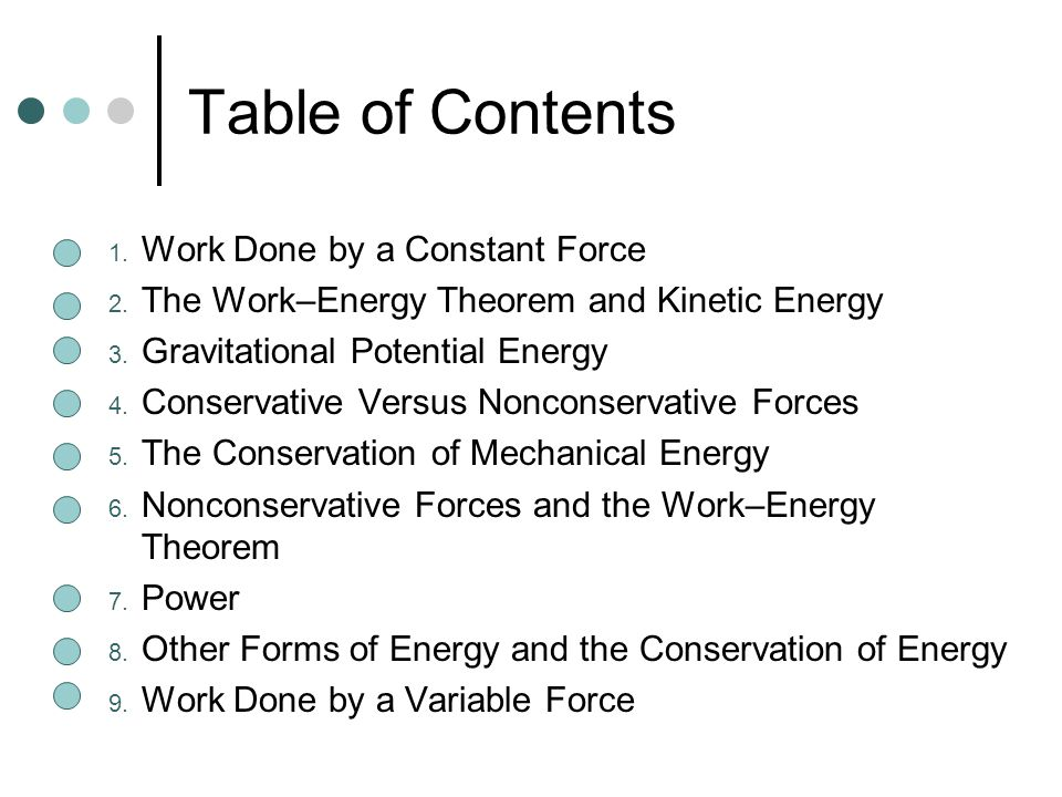 Chapter 6 Work & Energy Section 1: Work Done by a Constant Force