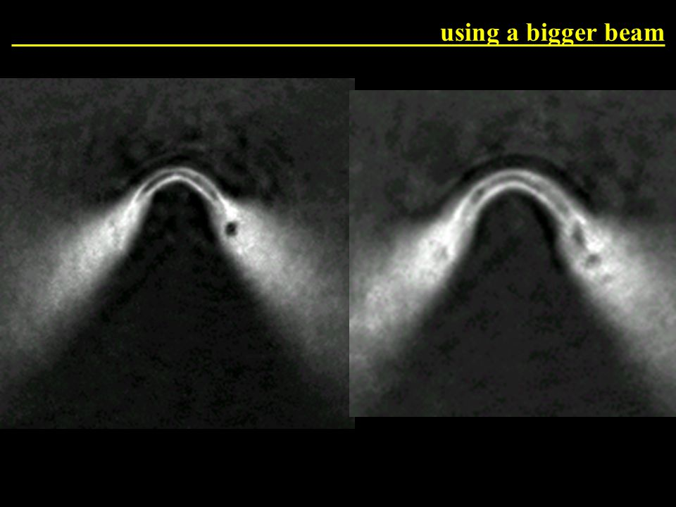 Bigger beam now 12.4 pixel, 7.2 mW using a bigger beam
