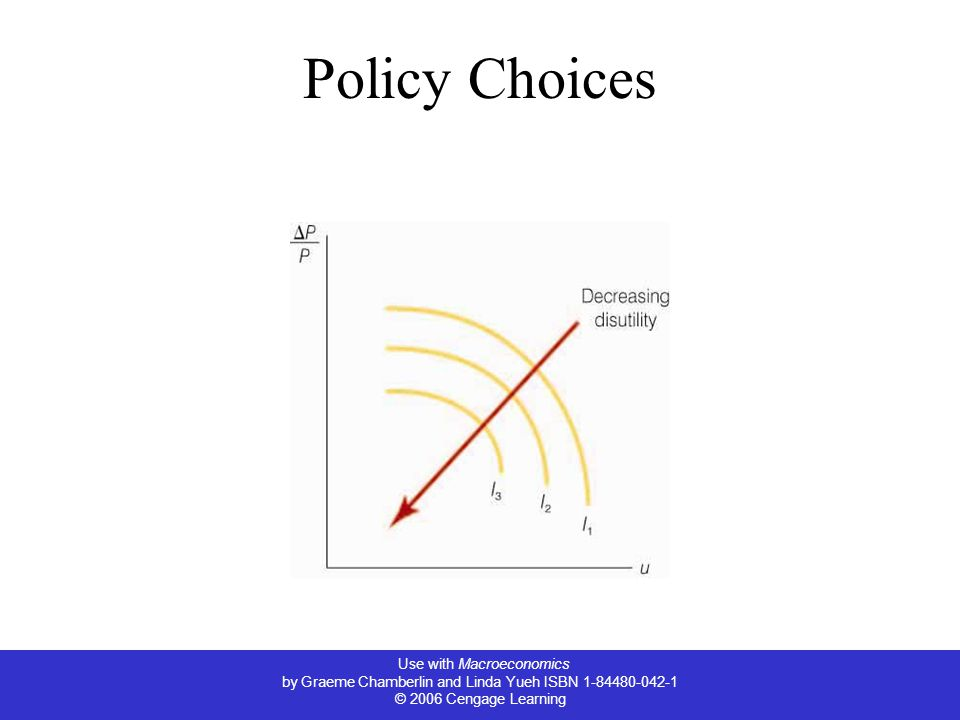 Use with Macroeconomics by Graeme Chamberlin and Linda Yueh ISBN 1-84480-042-1 © 2006 Cengage Learning Policy Choices