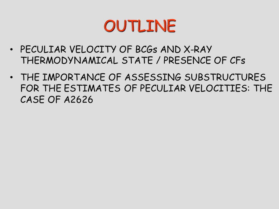 PECULIAR VELOCITIES OF BCGs AND X-RAY STATE CROSS-MATCH OF X-RAY PEAK AND BCG POSITION.