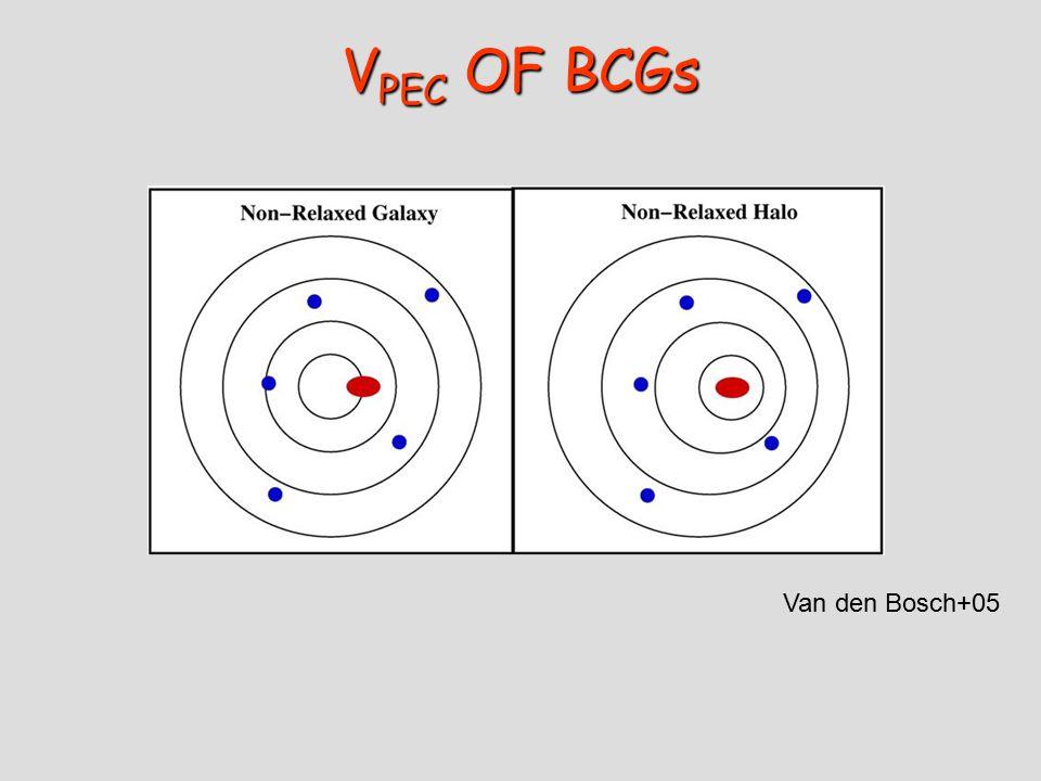 V PEC OF BCGs Van den Bosch+05