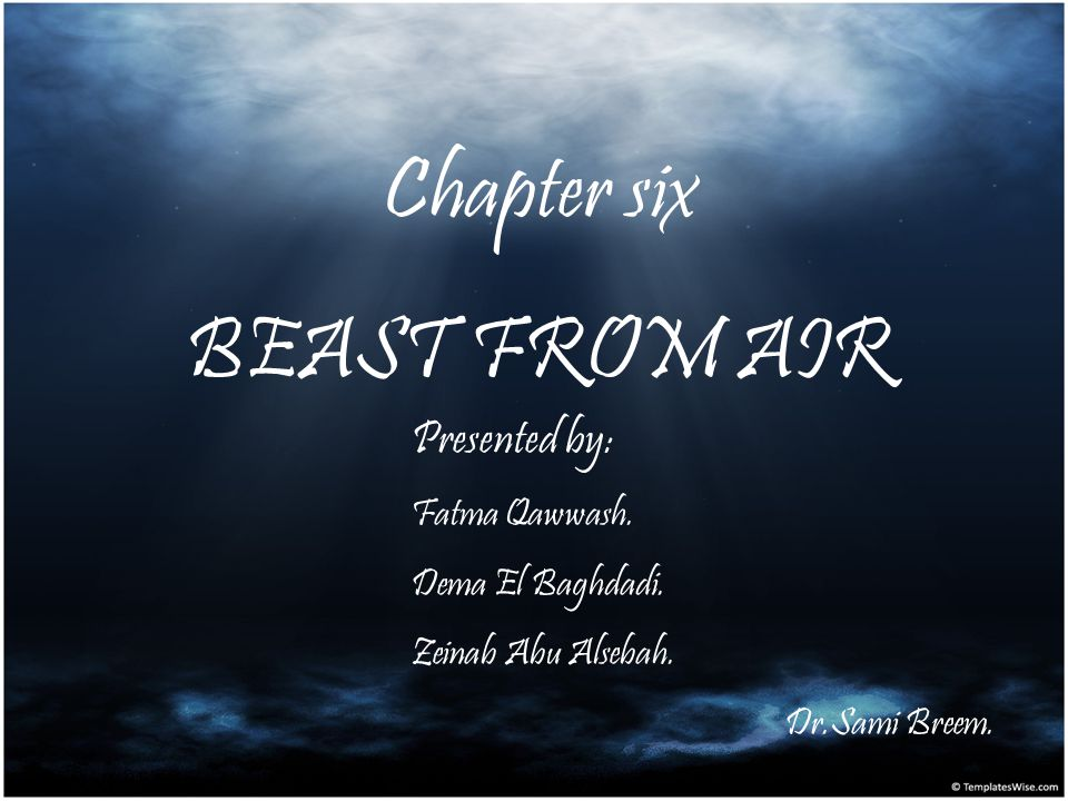 Chapter six BEAST FROM AIR Presented by: Fatma Qawwash.
