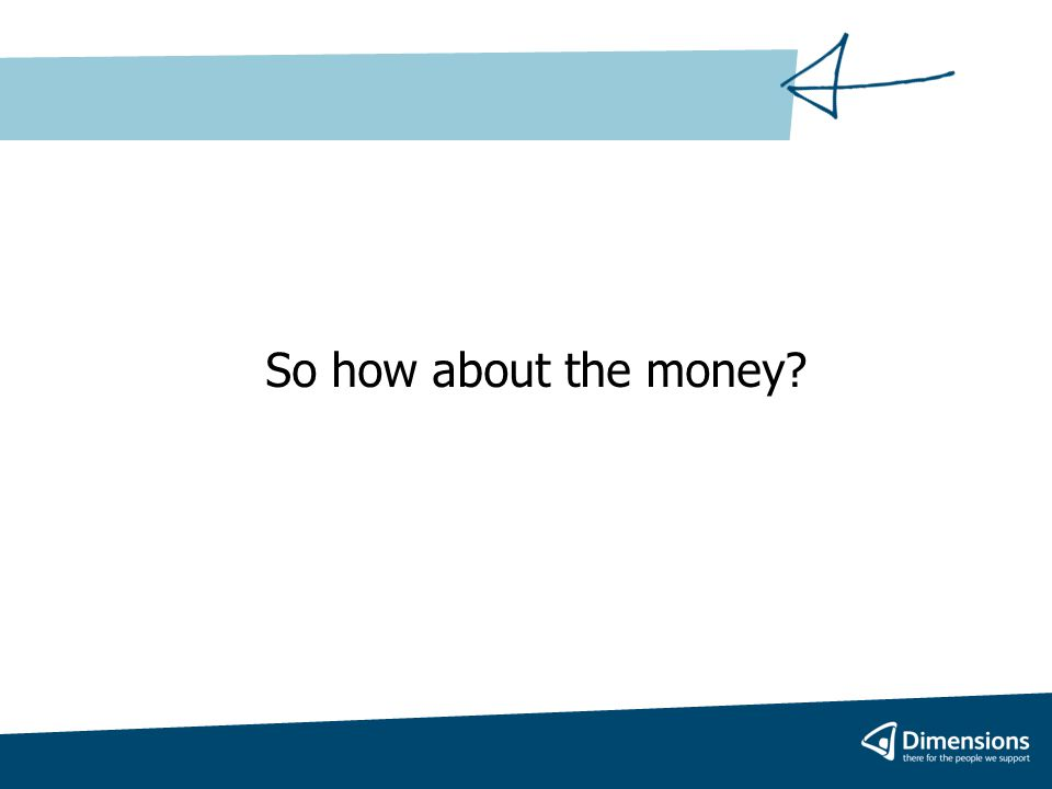 So how about the money?