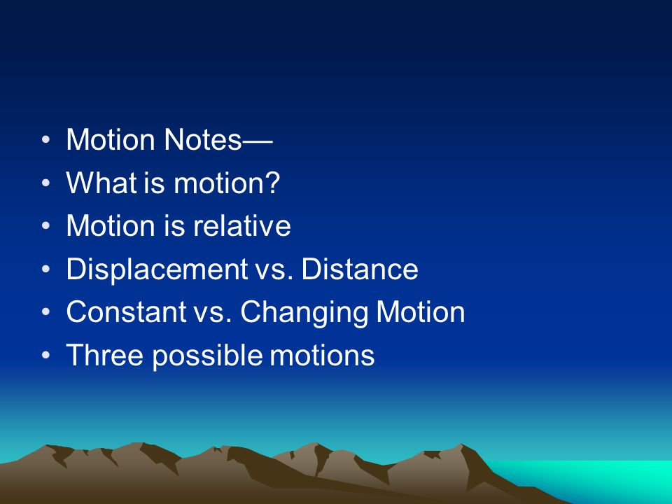 MOTION speed, velocity and acceleration