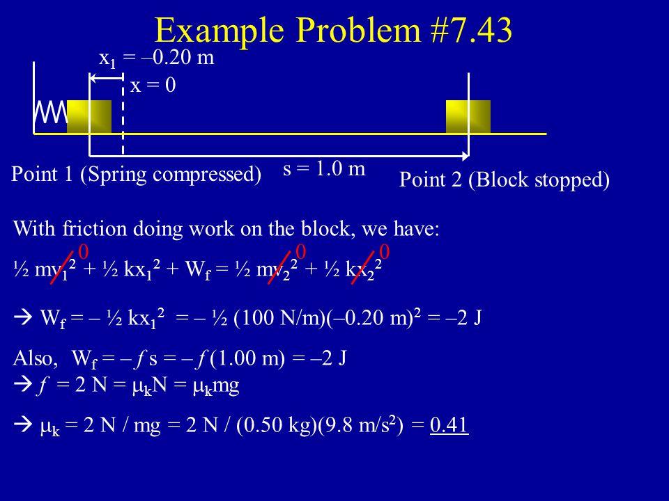 Example Problem #7.18 pt. 1 y 1 = 0 U g = 0 pt.