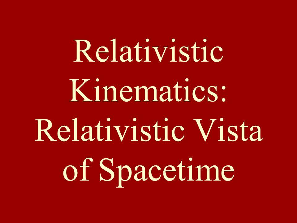 Relativistic Kinematics: Relativistic Vista of Spacetime