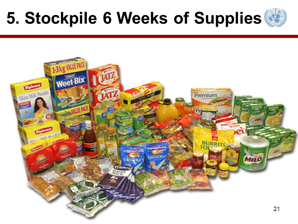 5. Stockpile 6 Weeks of Supplies 21