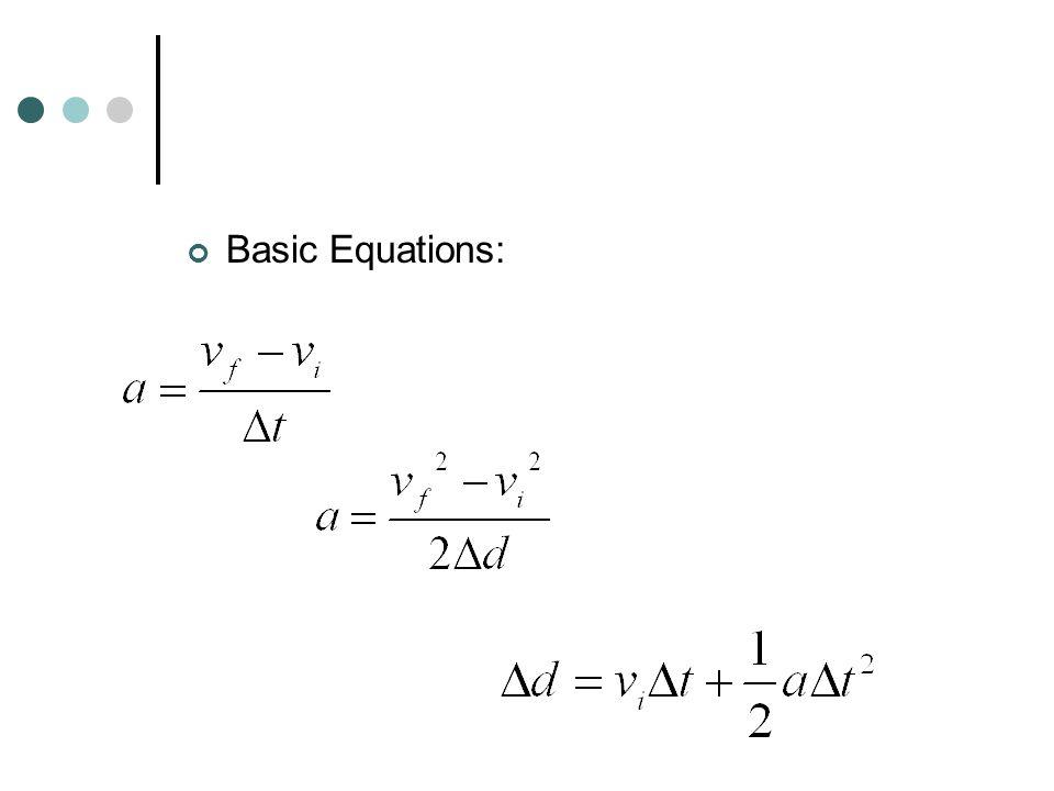 Basic Equations: